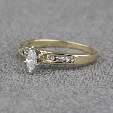pre owned engagement rings pre owned 14 karat yellow gold diamond engagement ring