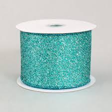 metallic ribbon 2 5 sparkle metallic glitter ribbon turquoise blue 10 yards