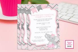 pink elephant tutu elephant tutu baby shower invitation baby
