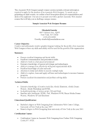 Certification Letter Template Sle Cover Letter Web Designer Resume Examples Web Designer Cv Examples