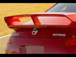 nissan 350z rear spoiler 2007 nissan nismo 350z rear wing 1024x768 wallpaper