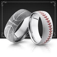 baseball wedding band sports men s wedding bands wedding rings baseball basketball