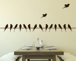 dining room decals bird silhouette wall decals simple cream wall paint rectangle