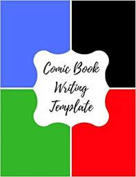 comic book writing template blank empty cartoon strips 8 5 x 11