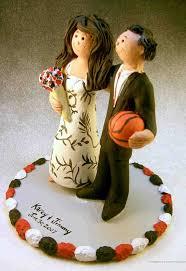 basketball cake topper themed wedding cake topper