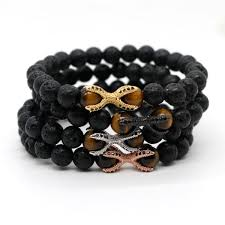 fashion stone bracelet images Men 39 s lava stone bracelet tiger eye beads bracelet jpg