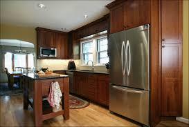 kitchen island with refrigerator furniture brown kitchen cabinets with modern refrigerator and