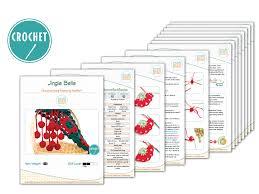 amigurumi pattern pdf free jingle bells christmas festive holiday scarf free pdf crochet