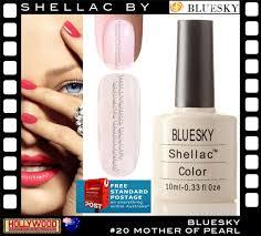 bluesky shellac uv gel nail polish 10ml mother of pearl 40520