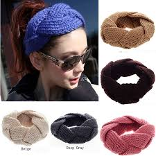 crochet hair bands women s thick braided crochet twist knit ear warmer hair band