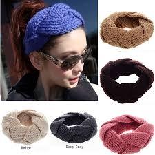 crochet hair bands aliexpress buy women s thick braided crochet twist knit ear