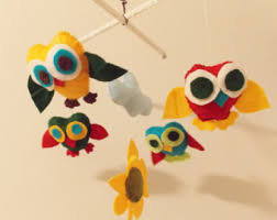 owl crib mobile etsy