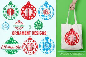 christmas ornament monogram frames svg cricut ornaments svg