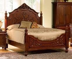 Antique Finish Bedroom Furniture by Finish Classic Antique Style Bedroom With Carving Details