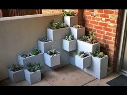 cinder blocks and succulents youtube