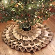 how to make a no sew burlap tree skirt recipe burlap tree skirt