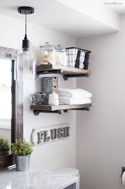 Wrought Iron Bathroom Shelves How To Build Diy Industrial Pipe Shelves Cherished Bliss