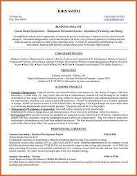 business analyst resume resume name