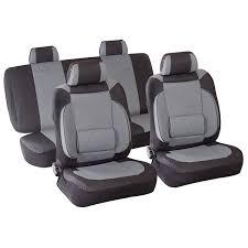 housse de siege auto housse de siège auto voiture gris set complet