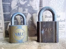 two yale locks old vintage locks without keys nice patina