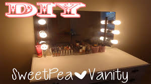 cheap makeup vanity mirror with lights diy vanity mirror with lights easy and cheap youtube