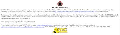 you asked for it u2026st john ambulance first aid re certification