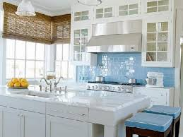 easy to clean kitchen backsplash retro curtain light blue glass tile backsplash traditional