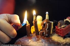 edible candles makes entirely edible candles from chocolate and nuts for