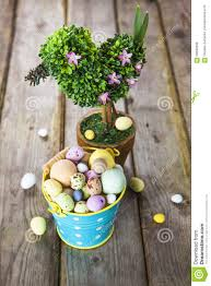 Easter Decorations Rustic by Easter Decorations On Rustic Wooden Background Stock Photo Image