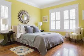 decorating with sunny yellow paint colors pictures for bedroom of