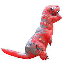 disfraces adultos red t rex inflatable dinosaur costume halloween