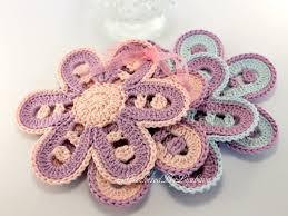 crochet coasters flower coasters set of4 crochet flowers
