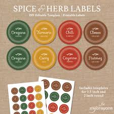 editable spice jar labels diy printable kitchen labels