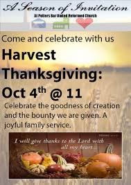harvest thanksgiving service sunday 4th october 11am all