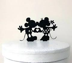 mickey minnie cake topper mickey and minnie cake topper wedding silhouette like this item