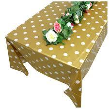 gold polka dot table cover plastic gold polka dot tablecloth 9ft x 4 5ft b3b9 192090431847 ebay