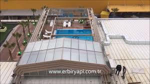 erbir yapi retractable pool enclosures retractable glass roof