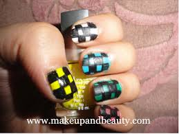 checkered nail art tutorial for short nails
