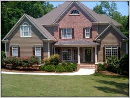 exterior paint colors that go well with red brick home painting