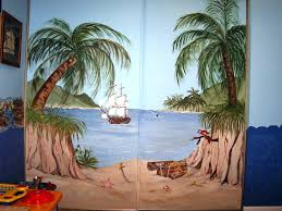 childrens painted wall murals cathie s murals childrens murals beach pirates cove closet door beach