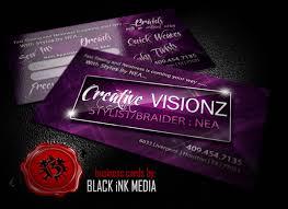 Business Cards Hair Stylist Custom Hair Stylist Business Cards Black Ink Media