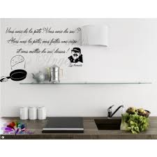 stickers muraux cuisine citation stickers dictons et citations les mur murs d
