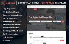 web templates website templates directory listing website theme jobboard free bootstrap html5 job portal website template