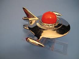 vintage flying saucer space ship ornament designed by