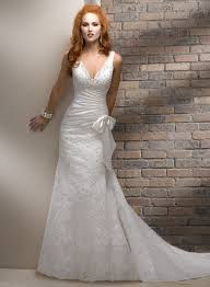 lace up lace v neck bridal mermaid wedding dress on sale lace up