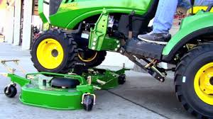 how to install and remove a john deere 60d drive over mower deck