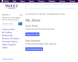 Yahoo Finance How To Receive Stock Alerts From Yahoo Finance Via Sms