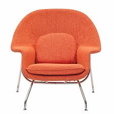 womb lounge chair and ottoman orange tweed wool