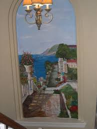 painting murals decorative faux finishes waterfall mural painted on slate sculpted styrofoam painted marble aged walls