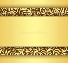 golden card with vintage floral ornament stock vector image